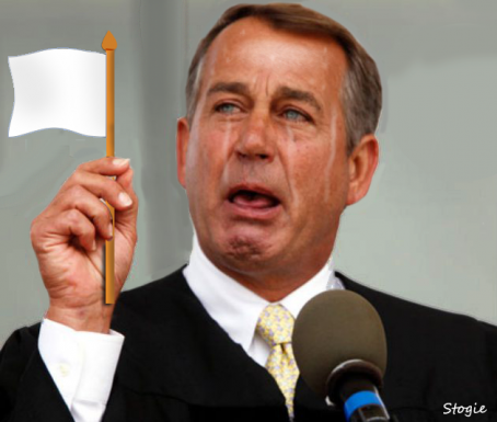 Boehner's White Flag