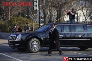 The limousine of US President Barack Oba
