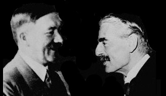 Hitler and Chamberlain edited