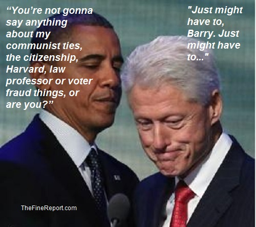 Obama and bill clinton edited