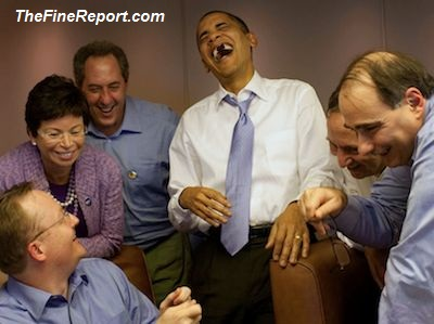 Obama and staff laughing edited