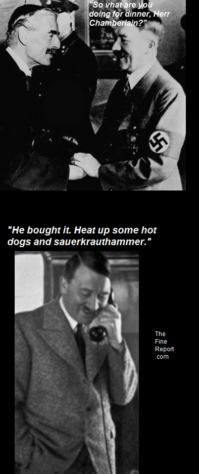 Hitler and Chamberlain
