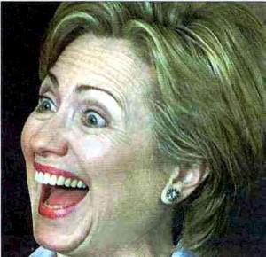 hillary_clinton clownish smile
