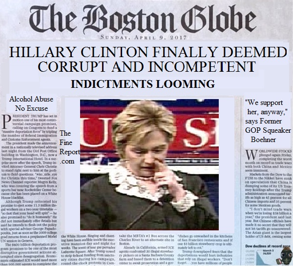 Boston globe clinton