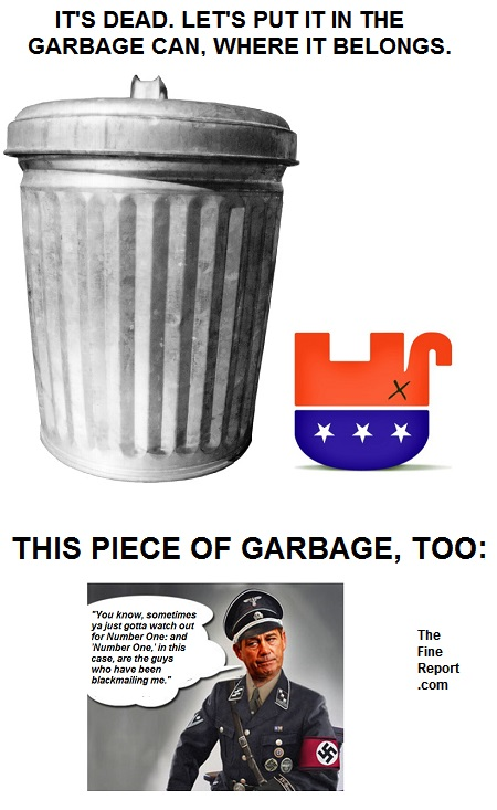 GOP in the garbage can