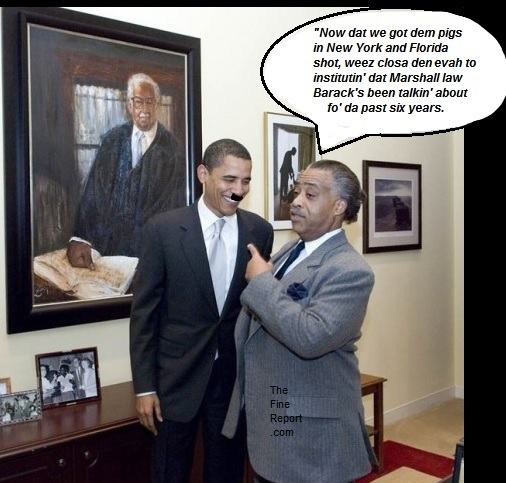 Obama and sharpton cops shot