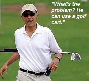 Obama golf what's the problem