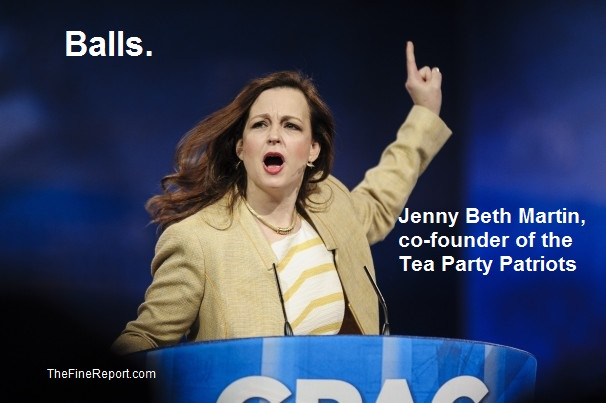 Jenny Beth Martin, co-founder of the Tea Party Patriots edited.