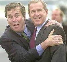 Jeb bush and george