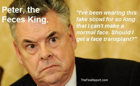 Peter King angry fake scowl