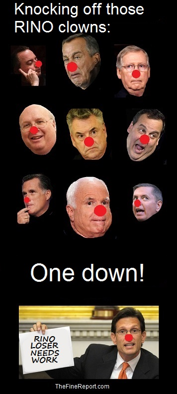 RINO losers  one down
