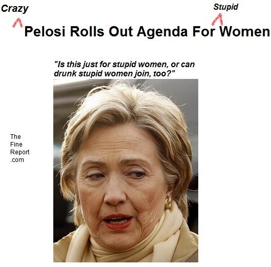 Crazy pelosi women agenda