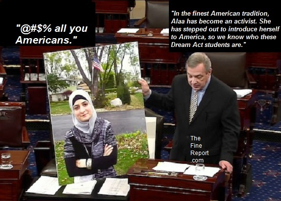 Turbin Durbin and muslim hater