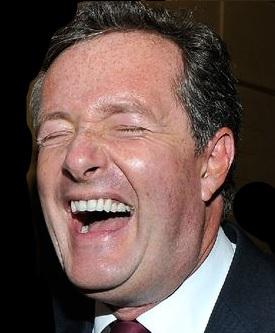 Piers Moron laughing