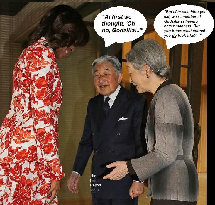 Michelle obama godzila