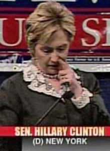nose picking - Hillary Clinto