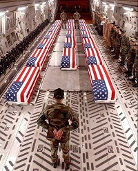 US military dead smaller