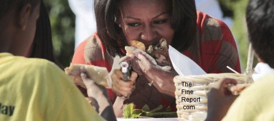 Michelle Obama eating.jpg edited
