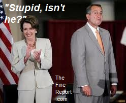Boehner and Pelosi looking stupid