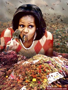 Michelle_Obama_Shovels_Food