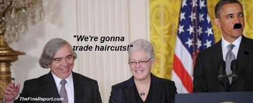 Obama with EPA bad hair