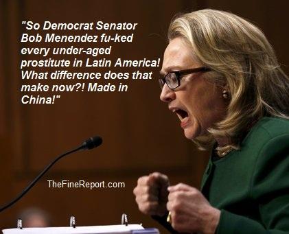 Hillary on Bob Menendez