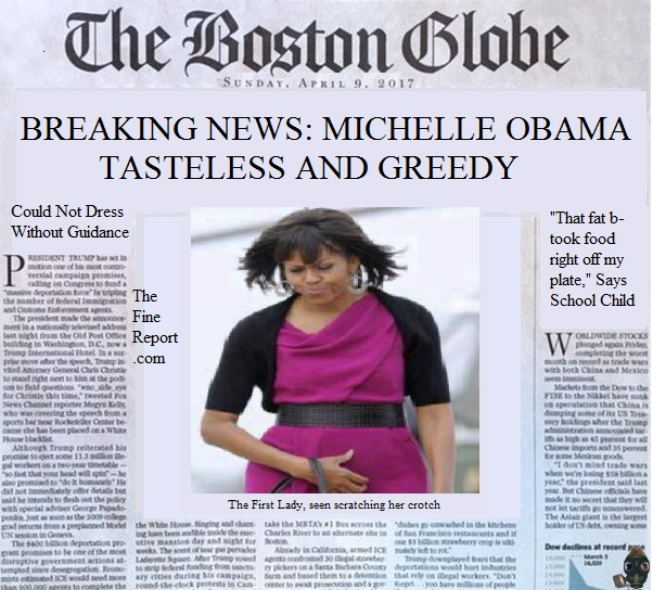 Boston globe parody Michelle Obama