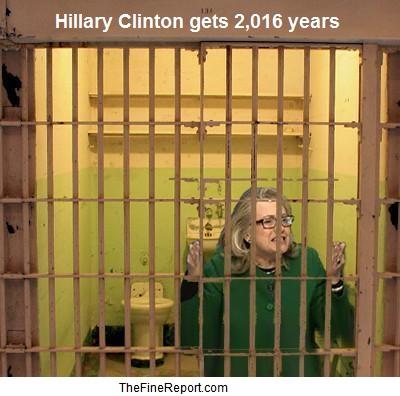 Hillary Clinton in jail. 2016 years