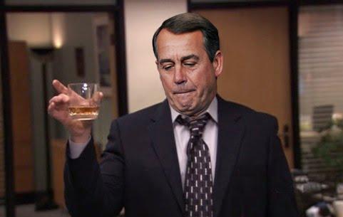 Boehner drunk