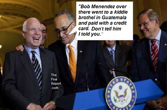 McCain laughing with Shumer