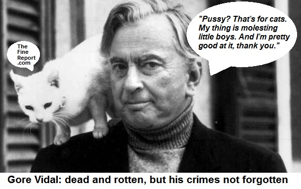 Gore vidal with cat