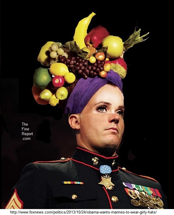 Marine medal of honor winner as carmen miranda