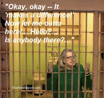 Hillary Clinton in jail EDITED