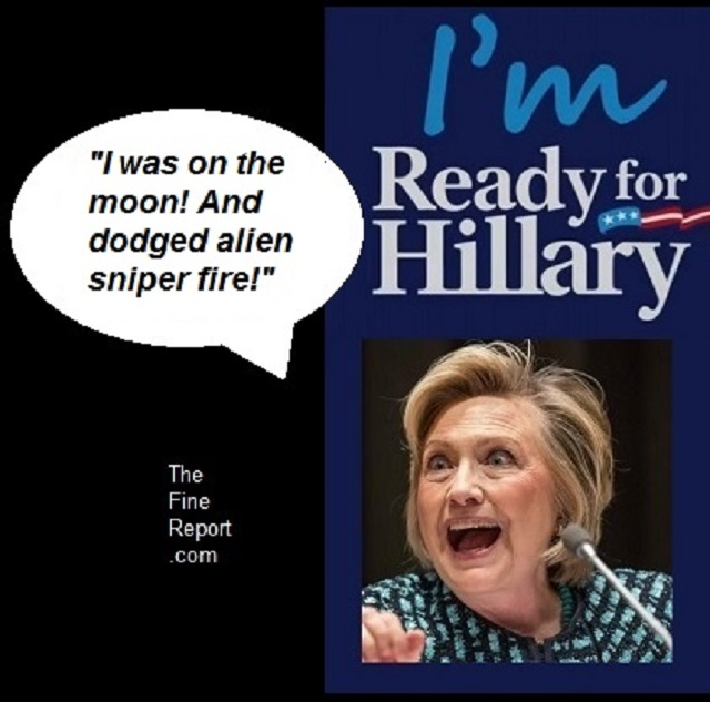 Hillary ready to the moon