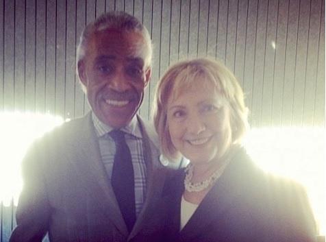 Clinton and Sharpton