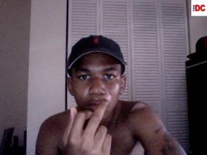 Trayvon Martin giving finger