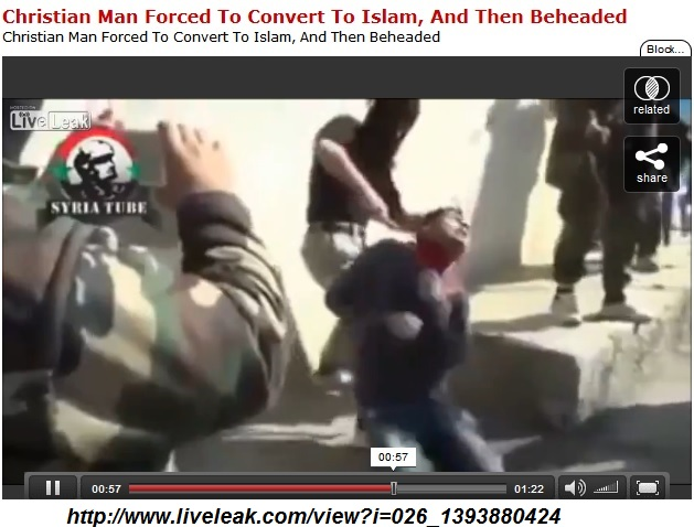 Christian man beheaded in Syria