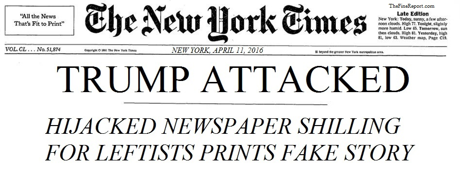 NY Times - Trump attacked