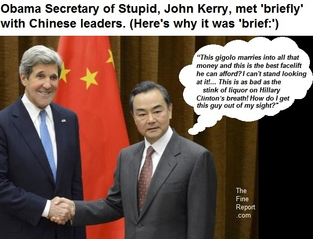 Kerry with Chinese leader