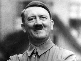 Hitler smiling