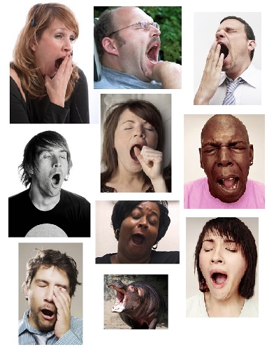 Yawning people