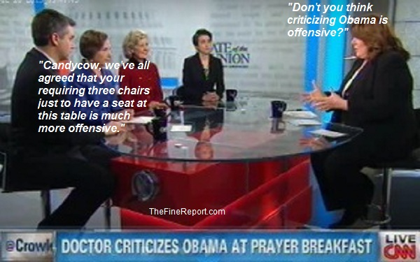 Candy Crowley interviewing CNN panel edited