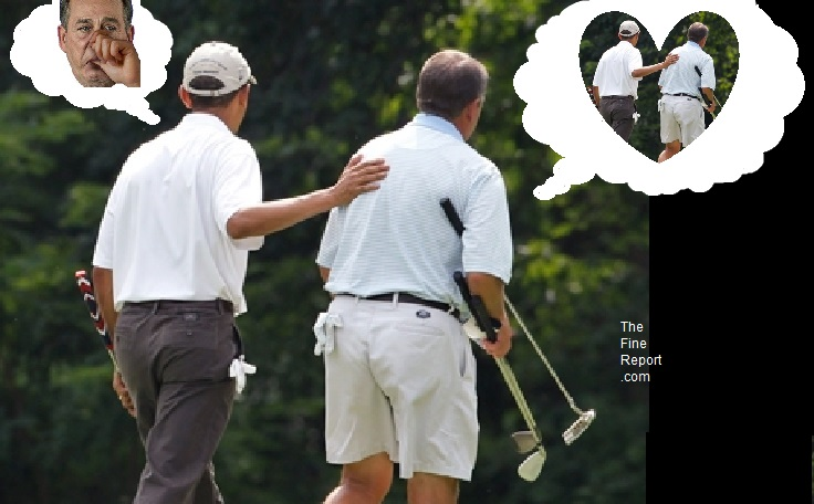 Obama and Boehner golfing. editedjpg