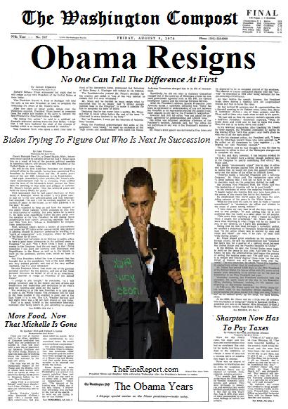 Obama resigns