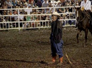 Obama clown at rodeo