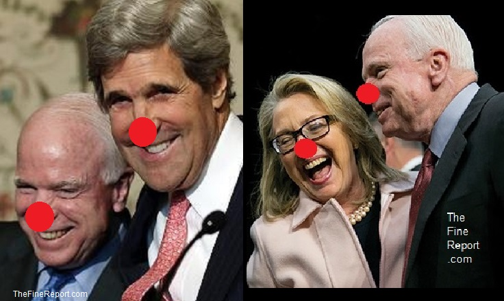 McCain kerry and clinton