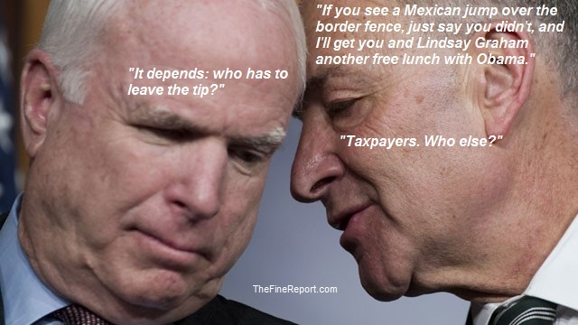 Image result for schumer and mccain images